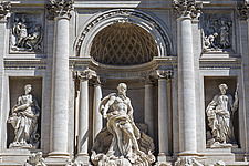 Detail of the Trevi Fountain, Rome, Italy - ARC106979