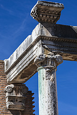 Ancient remains of the House of the Vestal Virgins, Roman Forum, Rome, Italy - ARC106987