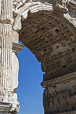 Detail of the central soffit coffers of the axial archway, Arch of Titus, Roman Forum, Rome, Italy - ARC106990