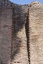 Detail of ancient Roman brickwork, Palatine Hill, Rome, Italy - ARC106991