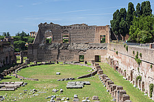 Ancient remains of the Imperial Palace of Emperor Domitian, Palatine Hill, Rome, Italy - ARC106992