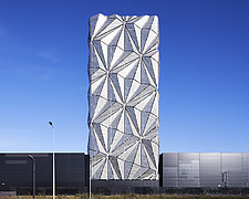 Exterior of The Optic Cloak, part of the Low Carbon Energy Centre, Greenwich Peninsula, London - ARC107176