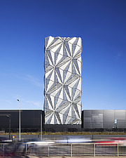 Exterior of The Optic Cloak, part of the Low Carbon Energy Centre, Greenwich Peninsula, London - ARC107177