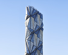Exterior of The Optic Cloak, part of the Low Carbon Energy Centre, Greenwich Peninsula, London - ARC107180