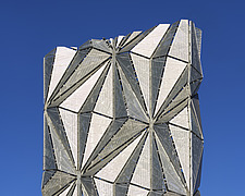 Exterior of The Optic Cloak, part of the Low Carbon Energy Centre, Greenwich Peninsula, London - ARC107185
