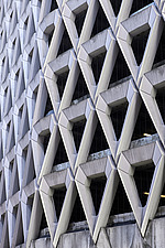 Exterior of Welbeck Street car park in central London, UK, built in 1970 for department store, Debenhams - ARC107189