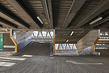 Interior of Welbeck Street car park in central London, UK, built in 1970 for department store, Debenhams - ARC107197