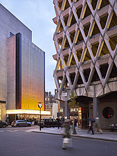 Exterior of Welbeck Street car park in central London, UK, built in 1970 for department store, Debenhams - ARC107200