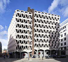 Exterior of Welbeck Street car park in central London, UK, built in 1970 for department store, Debenhams - ARC107263