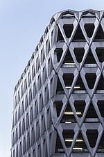 Exterior of Welbeck Street car park in central London, UK, built in 1970 for department store, Debenhams - ARC107271