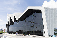 Riverside Museum by Zaha Hadid Architects is the Transport museum for Glasgow on the bank of the river Clyde - ARC107384