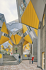 Exterior of Cube Houses, Rotterdam, Netherlands - ARC107393