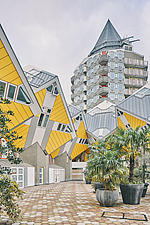 Exterior of Cube Houses, Rotterdam, Netherlands - ARC107396