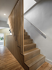 Hallway and bespoke timber staircase - ARC107694