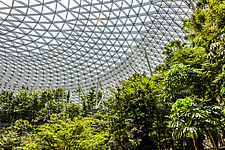 The Jewel Changi Airport in Singapore, a mixed use development complex featuring a rain vortex, the largest indoor waterfall in the world in 2019 - ARC107942