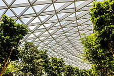 The Jewel Changi Airport in Singapore, a mixed use development complex featuring a rain vortex, the largest indoor waterfall in the world in 2019 - ARC107948
