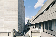 The Royal National Theatre on London's South Bank - ARC108135