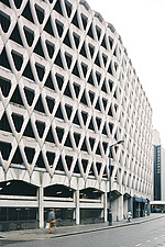 Exterior of Welbeck Street car park in central London, UK, built in 1970 for department store, Debenhams - ARC108144