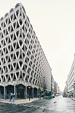 Exterior of Welbeck Street car park in central London, UK, built in 1970 for department store, Debenhams - ARC108148