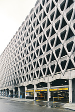 Exterior of Welbeck Street car park in central London, UK, built in 1970 for department store, Debenhams - ARC108149
