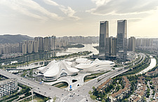 The Changsha Meixihu International Culture and Art Centre, located beside the Meixi Lake, in Changsha, the capital of the Hunan province in China - ARC108293