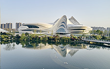 The Changsha Meixihu International Culture and Art Centre, located beside the Meixi Lake, in Changsha, the capital of the Hunan province in China - ARC108298