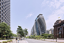 The Tao Zhu Yin Yuan Tower, or Agora Garden, is a sustainable residential tower in Taipei, Taiwan - ARC108304