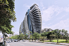 The Tao Zhu Yin Yuan Tower, or Agora Garden, is a sustainable residential tower in Taipei, Taiwan - ARC108306