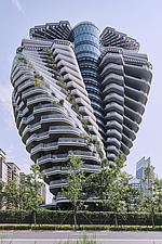 The Tao Zhu Yin Yuan Tower, or Agora Garden, is a sustainable residential tower in Taipei, Taiwan - ARC108309
