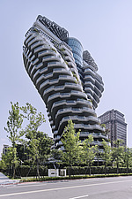 The Tao Zhu Yin Yuan Tower, or Agora Garden, is a sustainable residential tower in Taipei, Taiwan - ARC108310