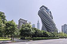 The Tao Zhu Yin Yuan Tower, or Agora Garden, is a sustainable residential tower in Taipei, Taiwan - ARC108311