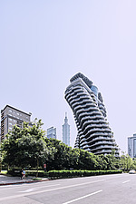The Tao Zhu Yin Yuan Tower, or Agora Garden, is a sustainable residential tower in Taipei, Taiwan - ARC108312