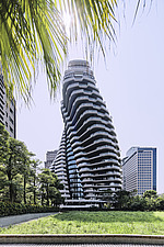 The Tao Zhu Yin Yuan Tower, or Agora Garden, is a sustainable residential tower in Taipei, Taiwan - ARC108314