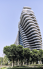 The Tao Zhu Yin Yuan Tower, or Agora Garden, is a sustainable residential tower in Taipei, Taiwan - ARC108325
