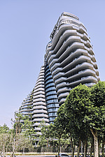 The Tao Zhu Yin Yuan Tower, or Agora Garden, is a sustainable residential tower in Taipei, Taiwan - ARC108326