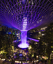 The Jewel Changi Airport in Singapore at night - ARC108687