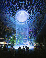 The Jewel Changi Airport in Singapore at night - ARC108689