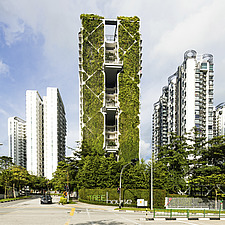 Tree House is a condominium with a 24 storey vertical garden, which held the Guinness World Record in 2014 for the world's largest green wall - ARC108694
