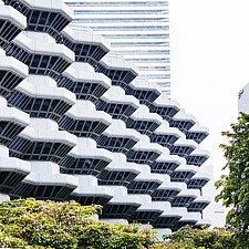 The Concourse, a high rise office development in Singapore designed by Paul Rudolph - ARC108698