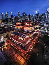 The Buddha Tooth Relic Temple and Museum is a Buddhist temple and museum complex located in the Chinatown district of Singapore - ARC108865