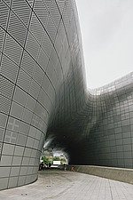 Dongdaemun Design Plaza, also known as DDP, is a cultural hub at the centre of Dongdaemun, a historic district of Seoul in Korea - ARC109285