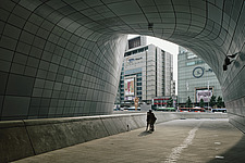 Dongdaemun Design Plaza, also known as DDP, is a cultural hub at the centre of Dongdaemun, a historic district of Seoul in Korea - ARC109286