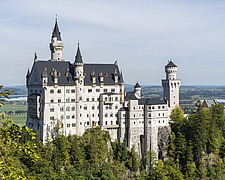 Neuschwanstein Castle located in Hohenschwangau, Germany - ARC109932