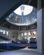Reichstag, Platz der Republik, Berlin, Germany - Overall interior view of debating chamber - 9000-90-1