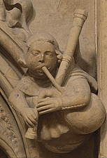 Beverley Minster  - Gargoyle playing the bagpipes - 9285-40-1