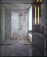 Broadway Apartment, Manhattan - bathroom  with two-person marble shower - 9480-120-1